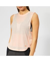 Under Armour Whisper Light Muscle Tank Top - Pink