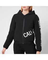 Calvin Klein Stretch Logo Puffer Jacket - Black
