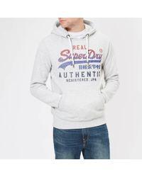 Superdry - Vintage Logo Fade Hoody - Lyst