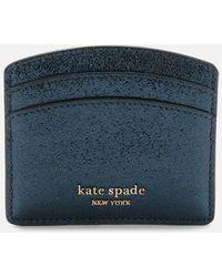 Kate Spade Spencer Metallic Card Holder - Blue