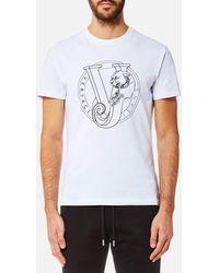 Versace Jeans - Circle Logo T-shirt - Lyst