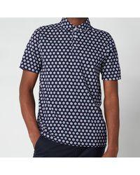 Ted Baker Edaname Floral Printed Short Sleeve Shirt - Blue