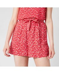Tommy Hilfiger Tjw Floral Shorts - Red