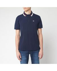 Tommy Hilfiger Classics Tipped Polo Shirt - Blue