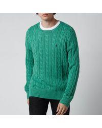 Polo Ralph Lauren Cable Knit Jumper - Green
