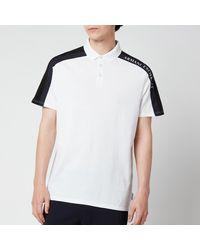 Armani Exchange Sleeve Detail Polo Shirt - White