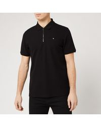 Ted Baker Dodgem Zip Polo Shirt - Black
