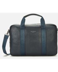 Ted Baker Importa Leather Document Bag - Black