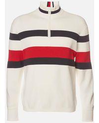 Tommy Hilfiger Bold Global Stripe Zip Mockneck Sweatshirt - Multicolor