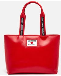 Love Moschino Heart Logo Tote Bag - Red