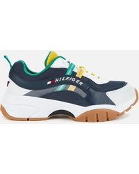 Tommy Hilfiger Heritage Chunky Running Style Trainers - Blue