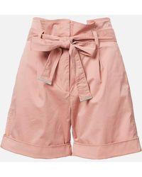 Calvin Klein Cotton Paper Bag Waisted Shorts - Pink