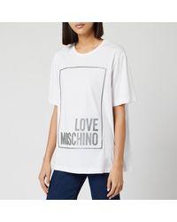Love Moschino Logo Box T-shirt - White
