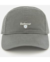 fe40a858a72 Barbour Cord Flat Cap in Green for Men - Lyst