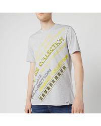 Versace Neon Logo T-shirt - Gray
