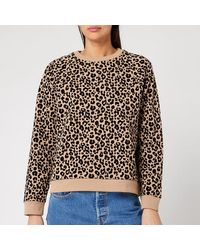 Whistles Flocked Leopard Sweater - Multicolor