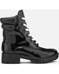 Kendall + Kylie - East Leather Lace Up Boots - Lyst