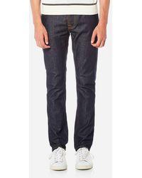 Nudie Jeans Grim Tim Slim Jeans - Blue