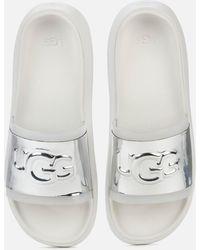 UGG Hilama Slide Sandals - White