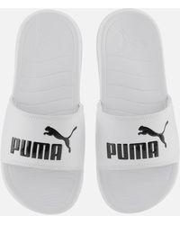 PUMA Popcat 20 Slide Sandals - White