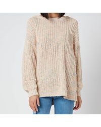 Free People Neon Lights Pullover - Natural
