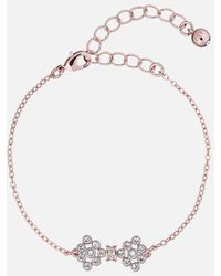 Ted Baker Brinnal: Small Crystal Bow Bracelet - Metallic
