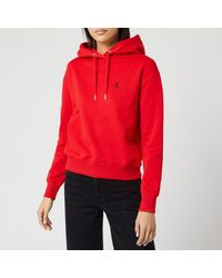Calvin Klein Jeans Embroidery Hoody - Red