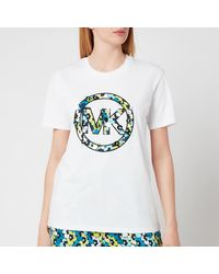 MICHAEL Michael Kors Sequin Clusters Logo T-shirt - White