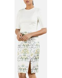 Ted Baker Popina Papyrus Cap Sleeve Bodycon Dress - Multicolor