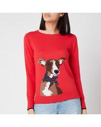 Joules Miranda Knitted Sweatshirt - Red
