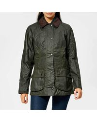 Barbour Beadnell Wax Jacket - Green