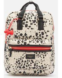 Radley Leopard Oilskin Large Ziptop Backpack - Multicolour