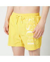 BOSS by HUGO BOSS Boss Swimwear Octopus Techinal Fabric Logo Swimshorts - Yellow