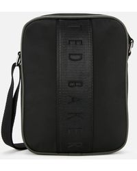 Ted Baker Branded Satin Flight Bag - Black