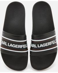 Karl Lagerfeld Kondo Contrast Slide Sandals - Black