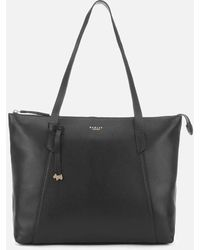 Radley Wood Street Large Zip Top Tote Bag - Black