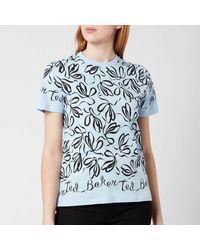 Ted Baker Modana Bow Printed T-shirt - Blue