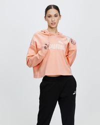 PUMA Essential Cropped Logo Fleece Hoodie - Multicolour
