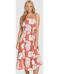 Roxy Nowhere To Hide Strappy Midi Dress - Multicolour