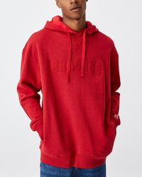 Cotton On Nrl Mens Embroidered Hoodie