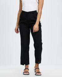 Missguided Petite Co Ord Split Cigarette Trousers - Black