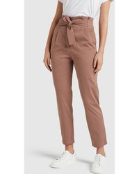 French Connection Tie Waist Trousers - Multicolour