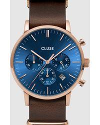 Cluse Aravis Chronograph Nato - Brown