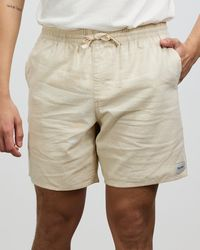 Rhythm Classic Linen Blend Jam Shorts - Natural