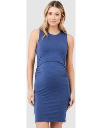 Ripe Maternity Organic Nursing Tank Dress - Blue