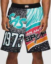 Mitchell & Ness Jumbotron Sublimated Shorts Spurs - Black