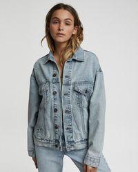 Cotton On The Oversized Denim Jacket - Blue