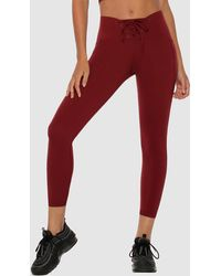 Lorna Jane Lace Up Ankle Biter leggings - Red