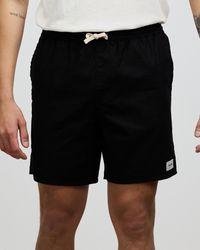 Rhythm Classic Linen Blend Jam Shorts - Black