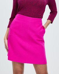 Marcs Sierra Felted Wool Mini Skirt - Pink